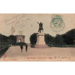Montpellier statue louis...