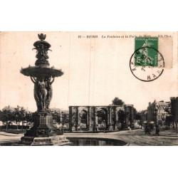 Reims la fontaine et la...