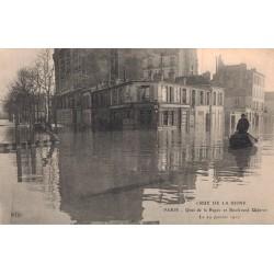 Crue de la seine en 1910 à...