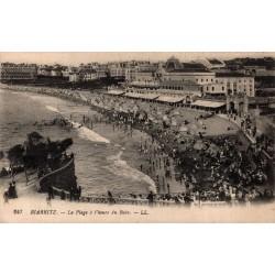 Biarritz la plage à l'heure...