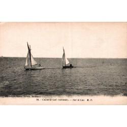 Cazaux lac bateaux sur le lac