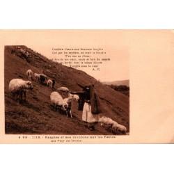 Bergere et ses moutons sur...