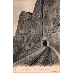 Ligne de la mure tunnel et...