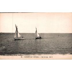 Cazaux lac sur le lac bateaux