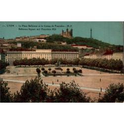 Lyon la place bellecour et...