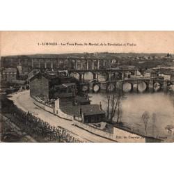 Limoges les trois ponts st...