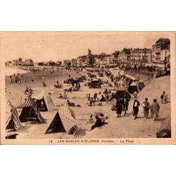 Les sables d'Olonne la plage